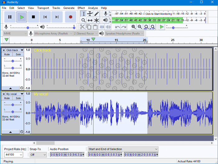 Audacity Screenshot 1